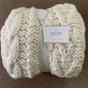 Pottery Barn Handknit Throw - NWT